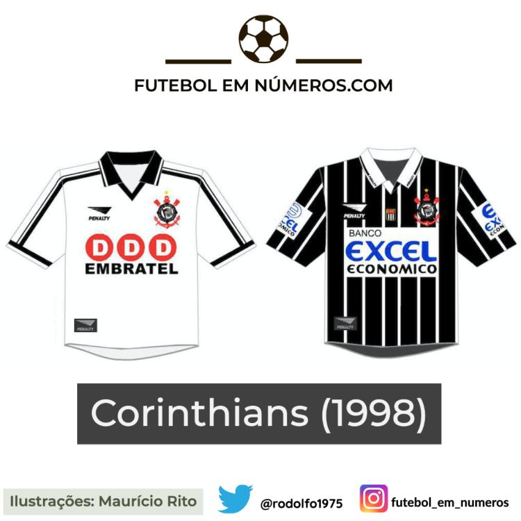 Camisas do Corinthians de 1998