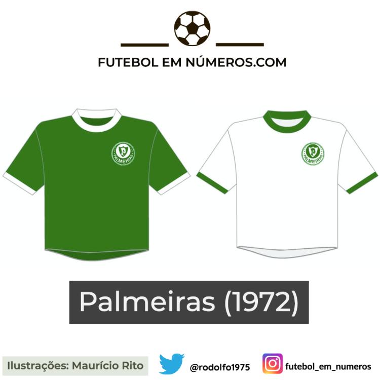 Camisas do Palmeiras de 1972