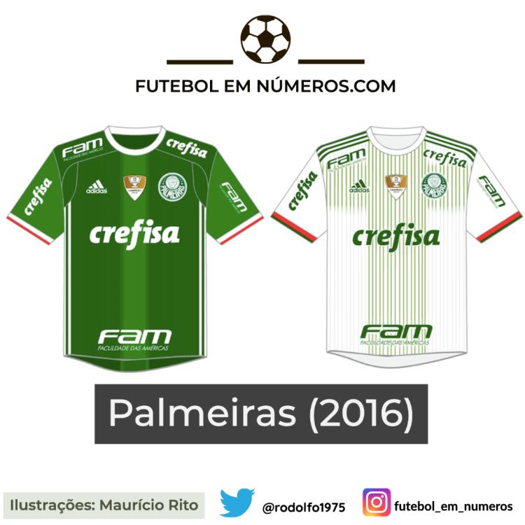 Camisas do Palmeiras de 2016