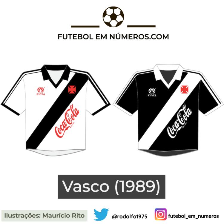 Camisas do Vasco de 1989